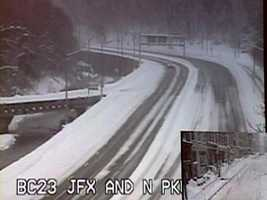 This is what the JFX looked like during the infamous February 2010 blizzards. (Image captured Feb. 10, 2010.)