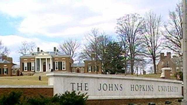 Johns Hopkins University campus, sign - 18712178