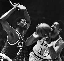 In 1969, Russell battled Wilt Chamberlain of the Lakers in the NBA Finals