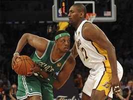 Pierce holds the record for most points scored in a game at TD Garden: 50 (February 15, 2006 vs. Cleveland Cavaliers).