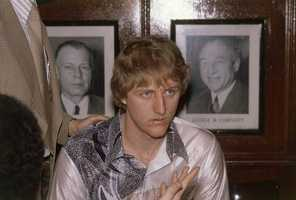 Larry Bird in 1979 while at Indiana State University.