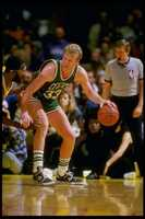 Bird in action versus the Los Angeles Lakers in 1988.