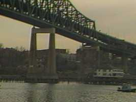Stuart leaped to his death from the Tobin Bridge in Chelsea.