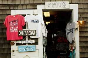 Items featuring Barack Obama's name are shown for sale at the Soft As A Grape store