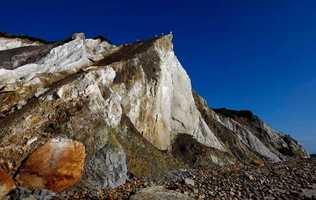 The cliffs at Gay Head beach are seen in Aquinnah.