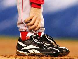 Schilling's bloody sock during Game 6 of the ALCS in October 2004.