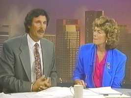 Dick and Natalie Jacobson on the set in the 1980s.