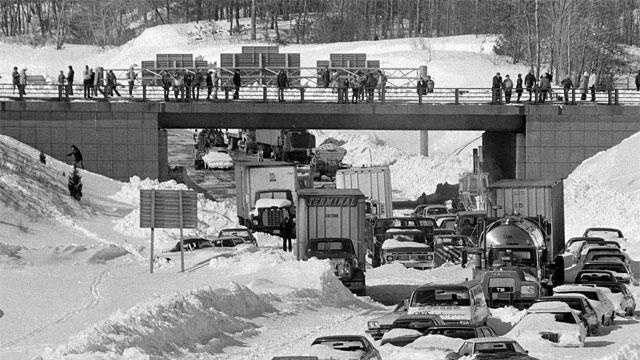 Blizzard Of 1978 Route 128 Black & White - 18610178