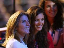 Caroline Kennedy Schlossberg and daughters Rose and Tatiana at the Democratic National Convention in Denver.