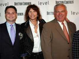 Niche Media CEO Jason Binn, Aerosmith singer Steven Tyler and Tom Menino attend the launch of Boston Common Magazine Sept. 21, 2005.