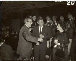 National LULAC President John Herrera with President Kennedy and Lady Bird Johnson.