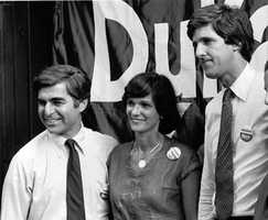 Kerry is seen with former Massachusetts Gov. Michael Dukakis and Dukakis' wife Kitty in this September 1982 photo, when Kerry ran for lieutenant governor of Massachusetts.