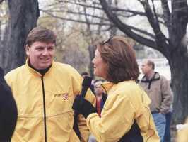 Nat & Mike Lynch At Boston Marathon