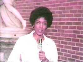 Reporter Gloria Gibson, 1978