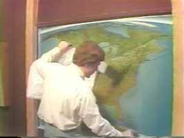 Meteorologist Bob Ryan explains weather forecasting in 1977.