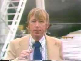 Reporter Clark Booth, 1976