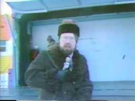 Reporter Chuck Kraemer, 1976