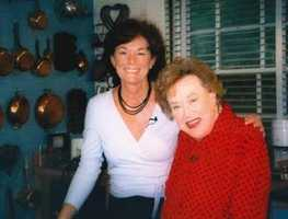 Natalie Jacobson and Julia Child