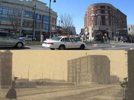 This is a look at how the intersection of Brookline and Commonwealth Ave looked in 1900 versus 2012.
