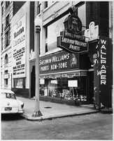 A Sherwin Williams store in Kenmore Square in 1957.