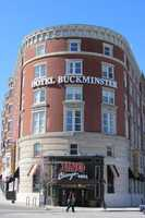 The Hotel Buckminster one of the center pieces of the square in 2012.