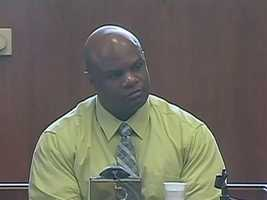 Washington testifies in the murder trial of his cousin, Edward Washington, and Dwayne Moore.