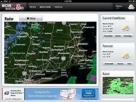 Interactive radar is large and you can zoom in to your neighborhood.