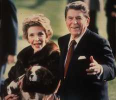 Ronald and Nancy Reagan with Rex.