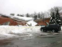Roof collapse at Triton Technologies, 35 Eastman St., in S. Easton, Mass.