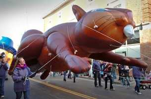 A giant inflated squirrel