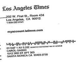 Greig subscribed using her fake name of Carol Gasko.