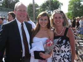Lauren with her parents.