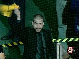 Nathan Horton drew cheers when the injured player was shown on the scoreboard.