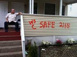 This house was marked as safe for habitation.