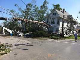In Monson almost every building in the town was either damaged or destroyed.