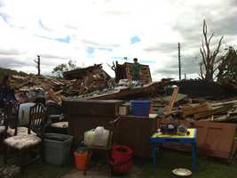 A house gone in Monson