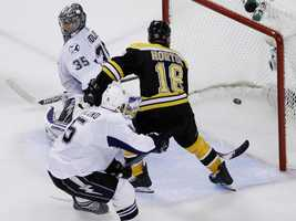 These next series of photos are from the Bruins' win over the Tampa Bay Lightning that sent them to the Stanley Cup playoffs