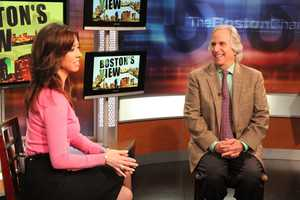 """JC Monahan chats with Henry Winkler, best known as """"The Fonz."""""""
