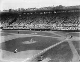 Even in 1930, the stands were filled to watch the Red Sox take on the Yankees.