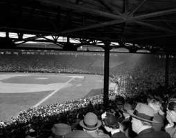 "Fenway 1950. Neil Diamond was only 9 in 1950, so these folks probably weren't singing ""Sweet Caroline"" in the 8th ..."