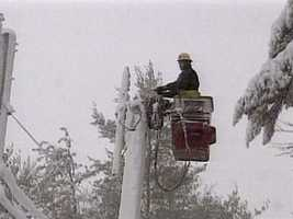 Hundreds of thousands were left without power.