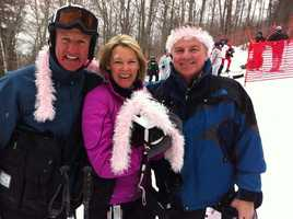 WCVB is involved in countless charity events, including the Loon Mountain Briefcase Race benefiting the Faulkner Breast Center