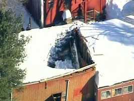 Hopkinton barn collapse at 164 Fruit Rd.