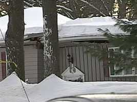 No one was injured when the roof of a Reading home collapsed.