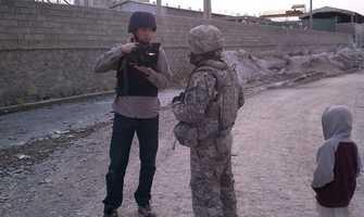 Sean Kelly prepares to go out with U.S. troops in Afghanistan