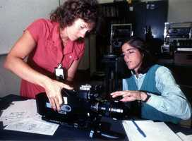 Christa McAuliffe, left, and Barbara R. Morgan, right, who was McAuliffe's backup for the flight.