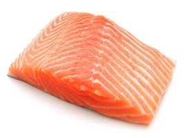 Salmon is one that is high in protein.