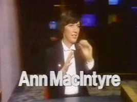 Reporter/Anchor Ann MacIntyre in a 1978 newscast intro.