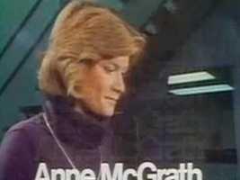 Reporter Anne McGrath in a 1978 newscast intro.
