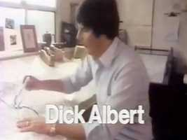 Meteorologist Dick Albert in a 1978 newscast intro.